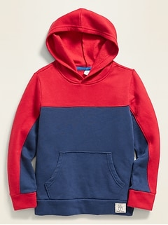 Color-Blocked Pullover Hoodie for Boys