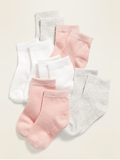 Unisex 6-Pack Crew Socks for Toddler & Baby