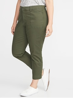 Mid-Rise Secret-Slim Pockets Plus-Size Pixie Utility Chinos