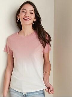 EveryWear Dip-Dye Short-Sleeve Tee for Women