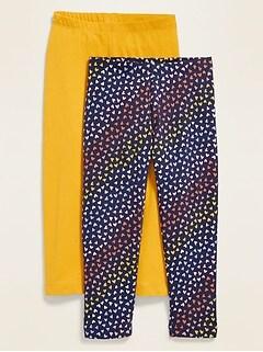 Full-Length Leggings 2-Pack for Toddler Girls