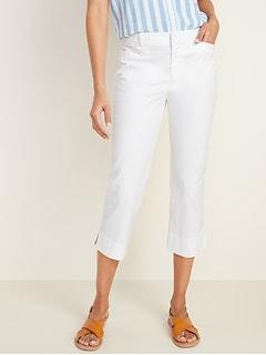 Mid-Rise Pixie Chino Capri Pants for Women