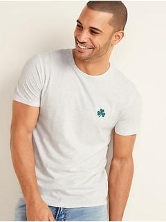 T-shirt à poche à encolure ras du cou au fini lavé doux pour homme