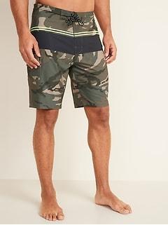Printed Built-In Flex Cargo Board Shorts for Men -- 10-inch inseam