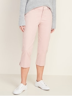Mid-Rise Pixie Chino Capri Pants for Women