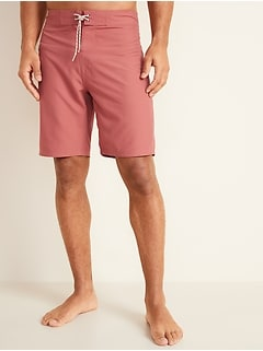 Solid-Color Board Shorts for Men -- 10-inch inseam