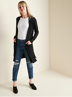 Super-Long Open-Front Sweater for Women