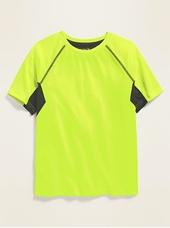 Go-Dry Color-Blocked Mesh Performance Tee for Boys