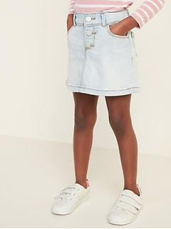 Button-Fly Jean Skirt for Toddler Girls
