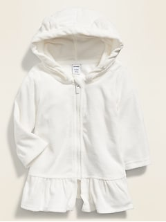 Hooded Loop-Terry Swim Cover-Up for Baby