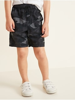 Functional Drawstring Camo Dry-Quick Jogger Shorts for Toddler Boys