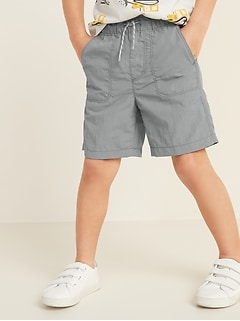 Dry-Quick Functional-Drawstring Utility Shorts for Toddler Boys