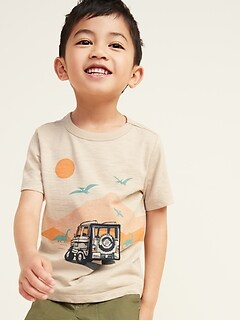 Lift-Flap Dino-Graphic Tee for Toddler Boys