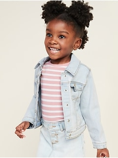 Stretch Jean Jacket for Toddler Girls