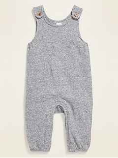 Cozy Plush-Knit Overalls for Baby