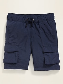 Dry-Quick Nylon Cargo Jogger Shorts for Toddler Boys