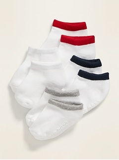 Unisex Ankle Socks 4-Pack For Toddler & Baby