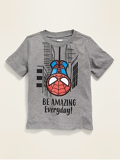 T-shirt à imprimé «Be Amazing Every Day!» Spider-Man