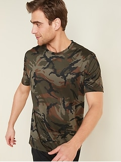 Printed Go-Dry Cool Odor-Control Core Tee for Men