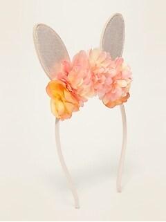 Rosette Critter Headbands for Girls