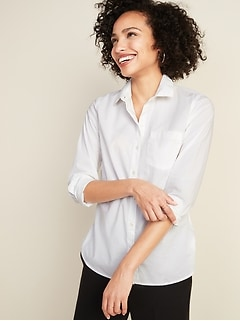 Relaxed Classic Clean-Slate Shirt for Women