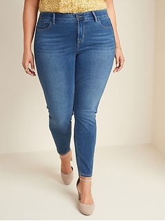 High-Rise Plus-Size Secret-Slim Pockets + Waistband 24/7 Sculpt Rockstar Jeans