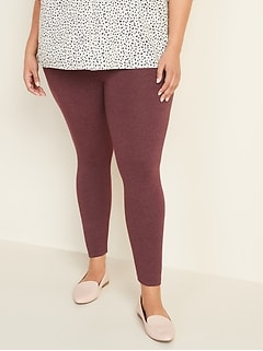 High-Waisted Full-Length Plus-Size Jersey Space-Dye Leggings