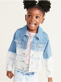 Dip-Dyed Jean Jacket for Toddler Girls