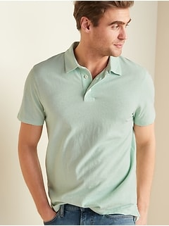 Soft-Washed Jersey Short-Sleeve Polo for Men