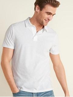 Polo à manches courtes en jersey au fini soyeux pour homme
