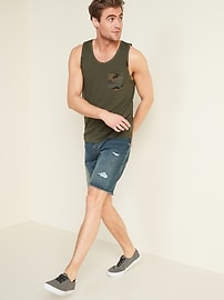 Soft-Washed Printed Pocket Tank Top for Men