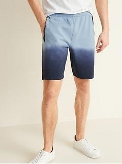 Short d'entraînement en molleton dynamique teint au plonger pour homme, 23cm