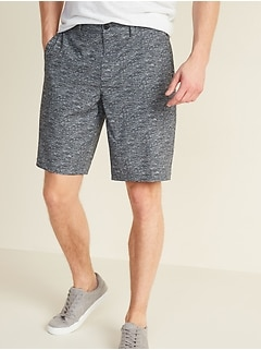Slim Printed Go-Dry Shade StretchTech Shorts for Men -- 10-inch inseam