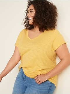 EveryWear Slub-Knit Plus-Size V-Neck Tee
