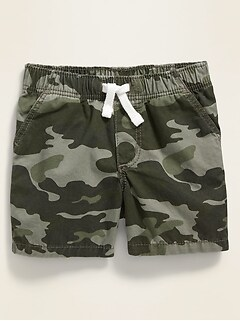 Unisex Camo Twill Pull-On Shorts for Baby