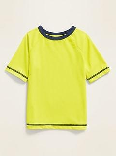 Raglan-Sleeve Rashguard for Toddler Boys