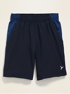Color-Blocked 4-Way-Stretch Run Shorts for Boys