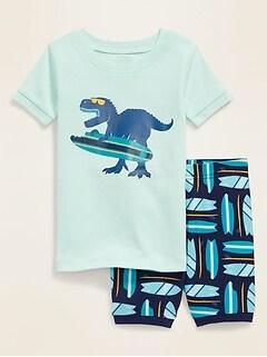 Dino-Graphic Pajama Set for Toddler & Baby