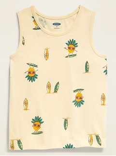 Printed Jersey Tank Top for Toddler Boys