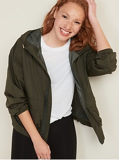Hooded Utility Performance Jacket for Women