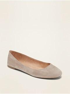 Faux-Suede Ballet Flats for Women