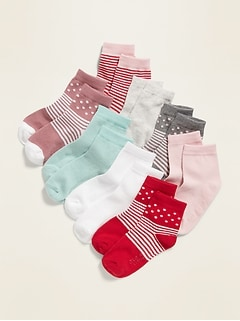 Crew Socks 8-Pack for Toddler Girls & Baby
