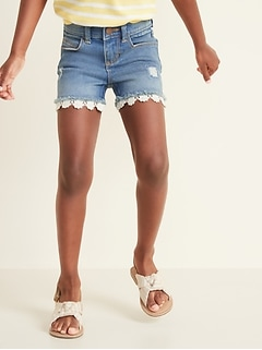 Frayed-Hem Jean Shorts for Toddler Girls