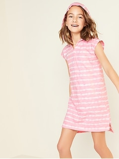 Hooded Jersey Swim Cover-Up for Girls
