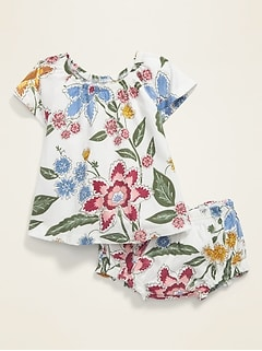 Printed Top & Bloomers Set for Baby