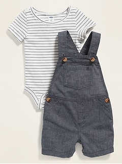 Bodysuit & Overalls Set for Baby
