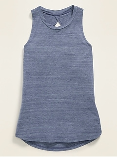 Twist-Back Keyhole Tank Top for Girls
