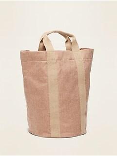 Textured Burlap Tote Bag