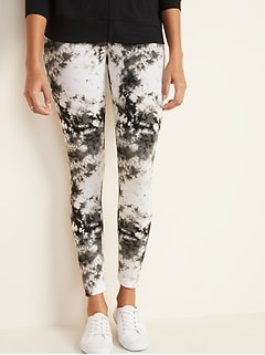 Mid-Rise Printed Jersey Leggings for Women