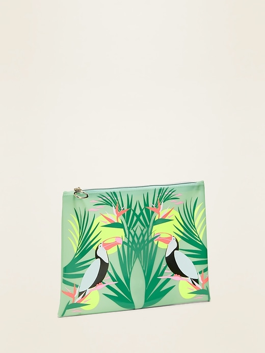Printed Plastic Bikini Bag for Women